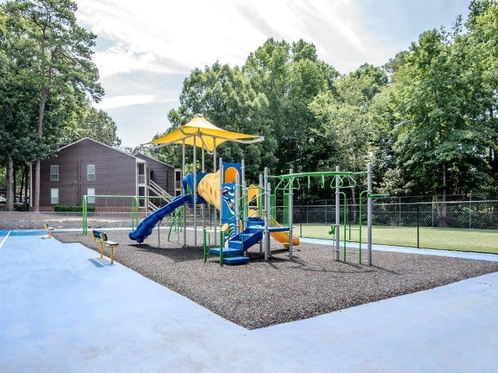 On-site playground at Six Forks Station in Raleigh