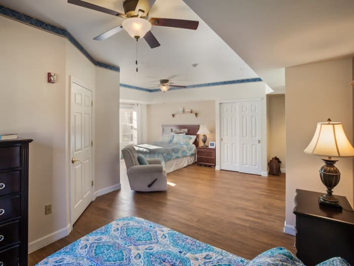 spacious bedroom at Pacifica Senior Living Spring Valley in Las Vegas, NV