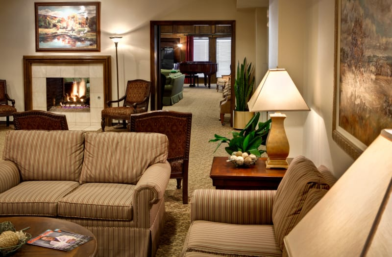 Comfortable couches at Country Club At Woodland Hills in Tulsa