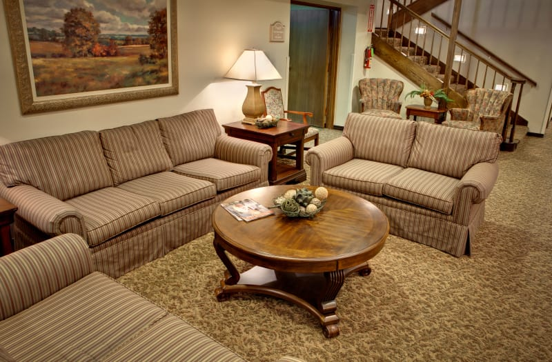 Beautiful antique coffee table at Country Club At Woodland Hills in Tulsa