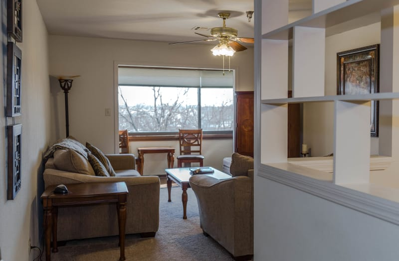 Living room at Country Club At Woodland Hills in Tulsa