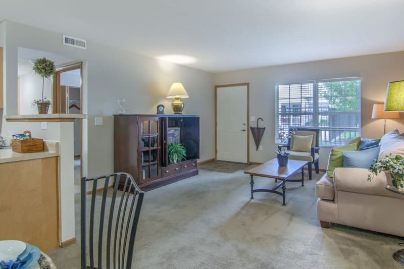 Luxury living room at Winchester Park in Groveport, Ohio