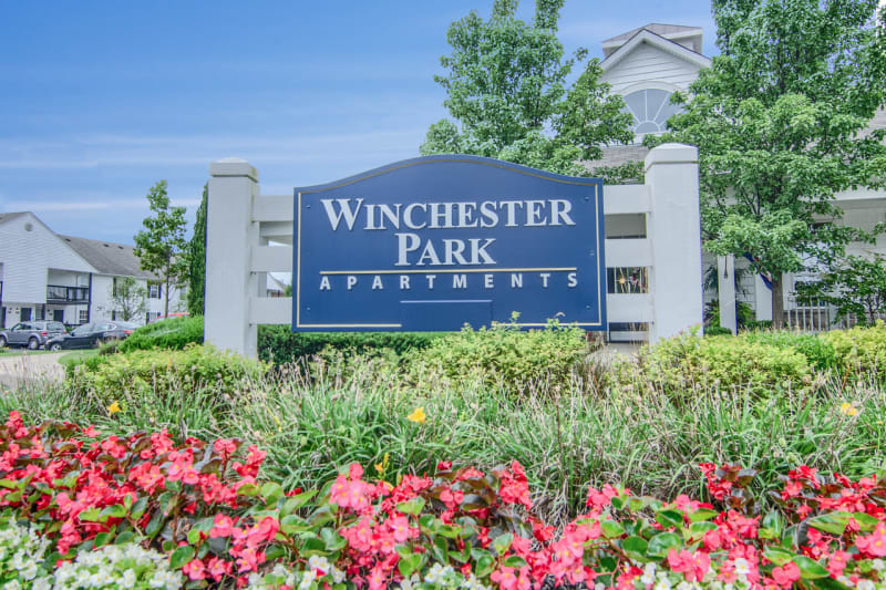Beautiful entryway at Winchester Park in Groveport, Ohio