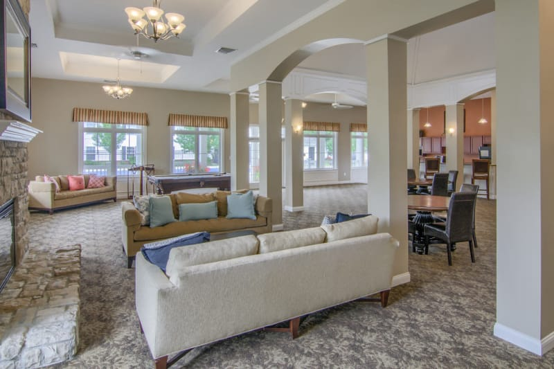 Beautiful lounge at Winchester Park in Groveport, Ohio