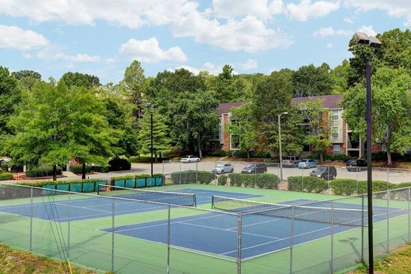 Tennis courts at Allegro on Bell in Antioch, Tennessee