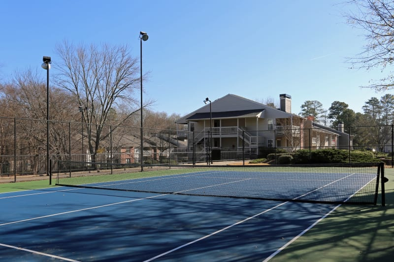 Onsite tennis courts at The Franklin in Marietta, Georgia