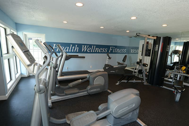Well-equipped fitness center at The Everette at East Cobb in Marietta, Georgia