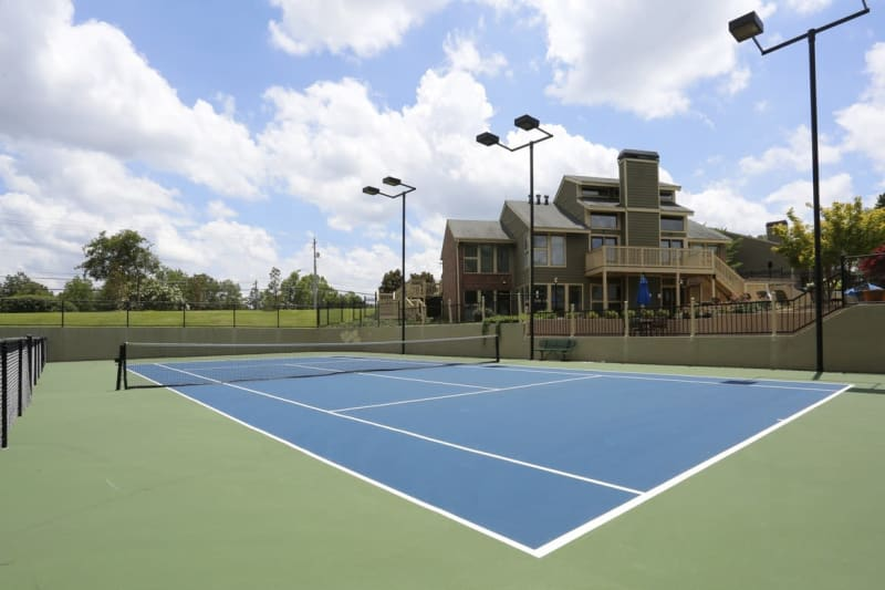 Onsite tennis courts at The Everette at East Cobb in Marietta, Georgia