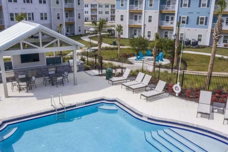 Resort-style pool of Argyle at Oakleaf Town Center in Jacksonville, Florida