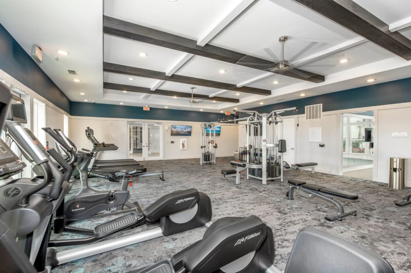 Fitness center at Argyle at Oakleaf Town Center in Jacksonville, Florida