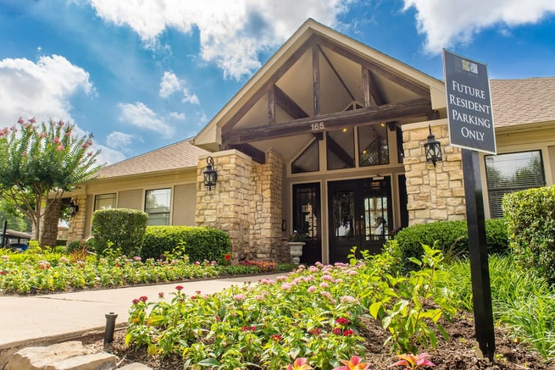 Professionally maintained landscaping at The Aidan in Lewisville, Texas