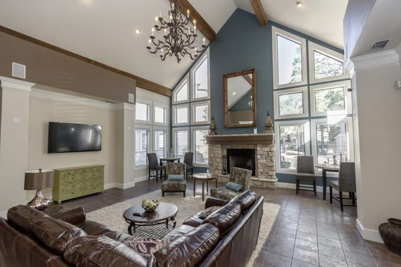 Resident clubhouse at The Aidan in Lewisville, Texas
