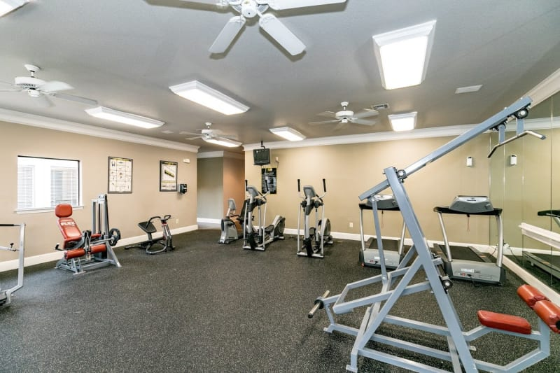 Gym at The Aidan in Lewisville, Texas