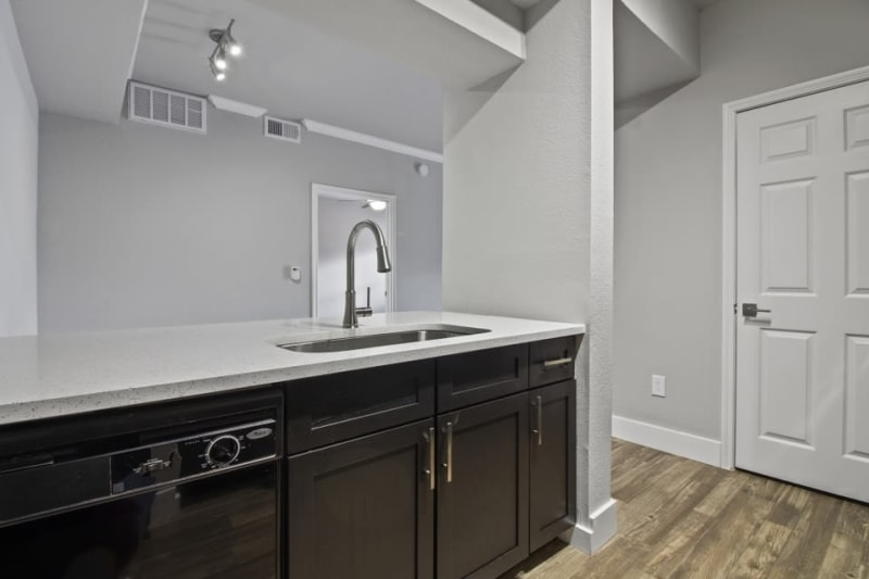 Kitchen sink at Emerson at Ford Park in Allen, Texas