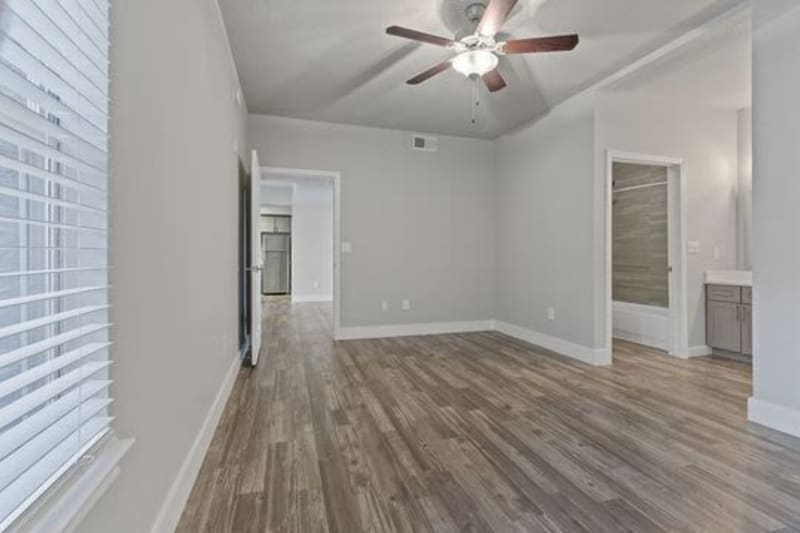 A living room at Emerson at Ford Park in Allen, Texas