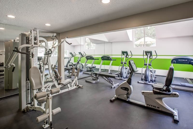 State-of-the-art fitness center at Hamilton Ridge Apartments