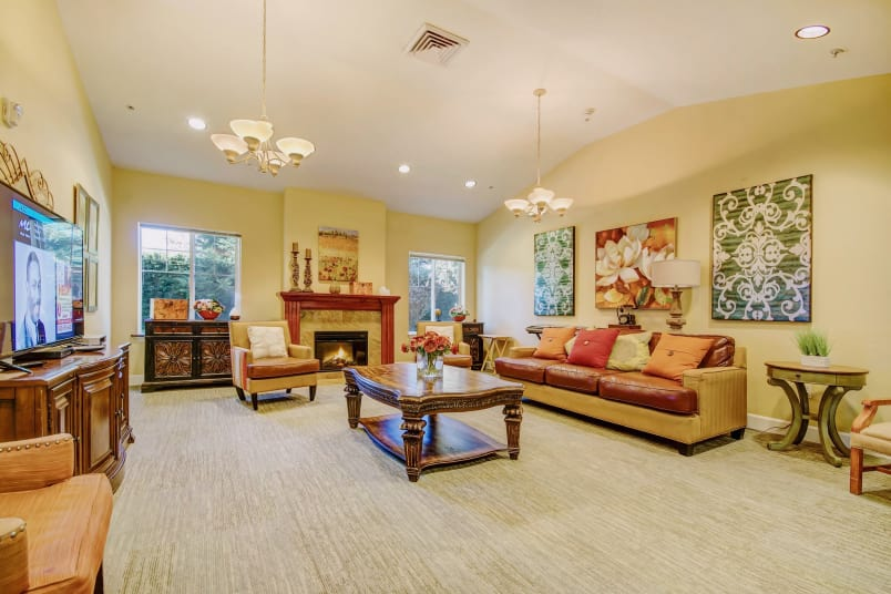 Spacious Living Room At The Commons At Union Ranch In Manteca, California