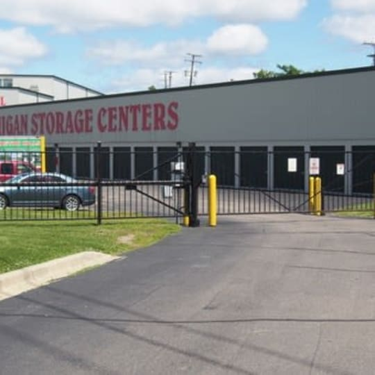 Secure gated access at Michigan Storage Centers in Farmington Hills, Michigan