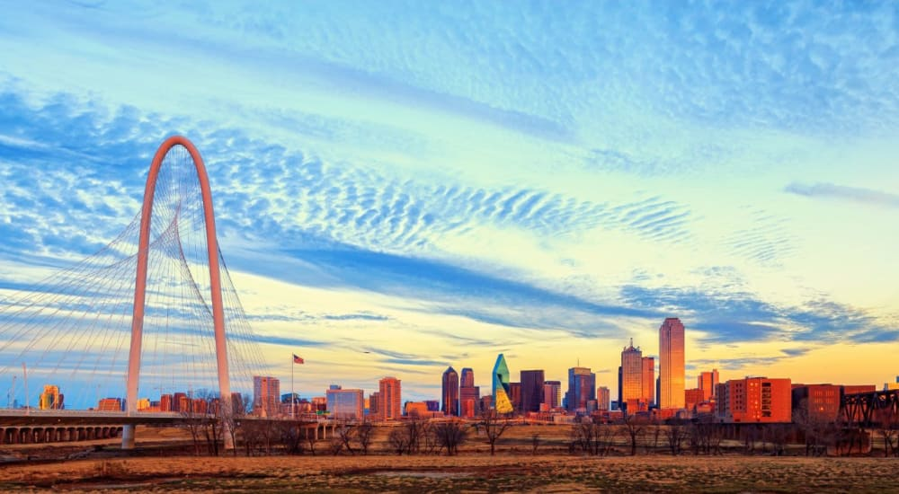 Beautiful view of the city near The Langford in Dallas, Texas