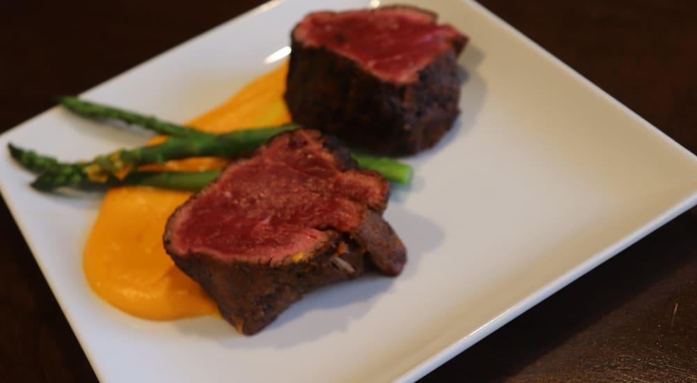 Delectable steak at The Springs at Butte in Butte, Montana