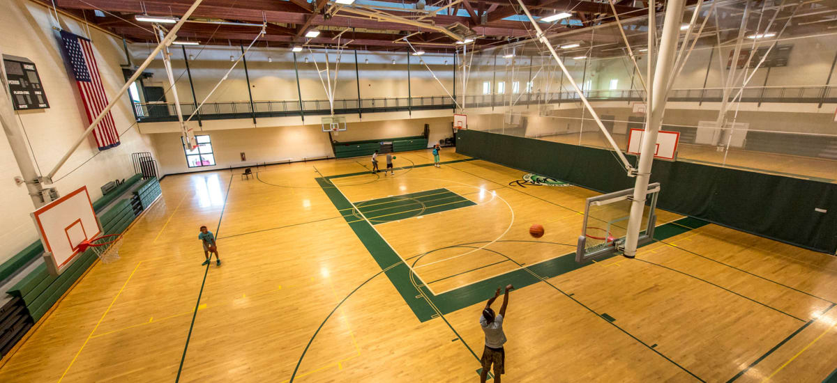 Basketball court at The Cove at Riverwinds in West Deptford, New Jersey