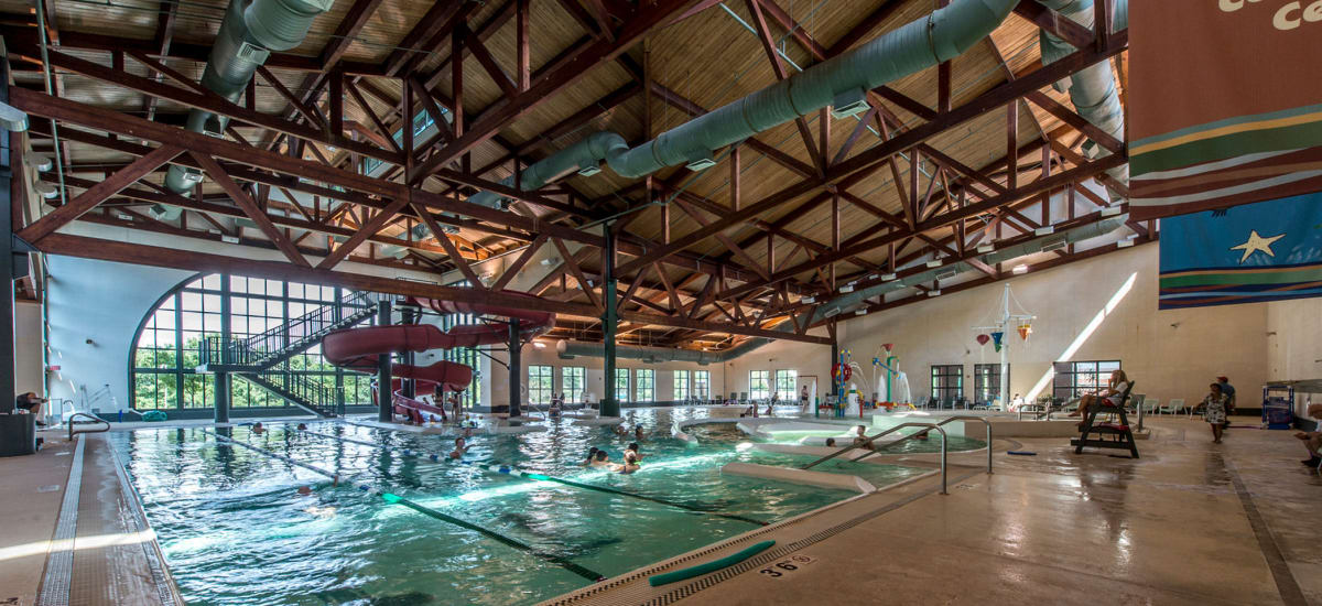 Indoor swimming pool at The Cove at Riverwinds in West Deptford, New Jersey