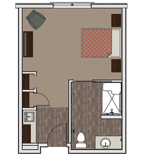 Private memory care apartment at Stonecrest of Wildwood