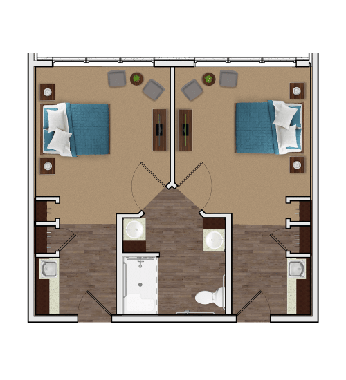 Memory Care Companion Suite at Stonecrest at Burlington Creek