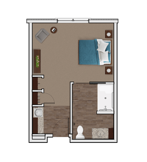 Memory Care Private Suite at Stonecrest of Wildwood