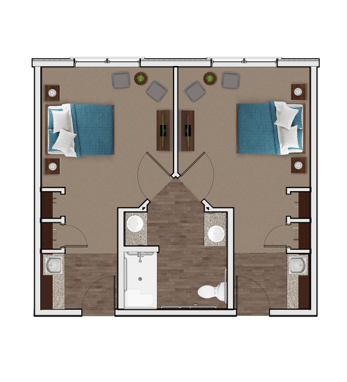Memory Care Companion Suite at Stonecrest of Wildwood