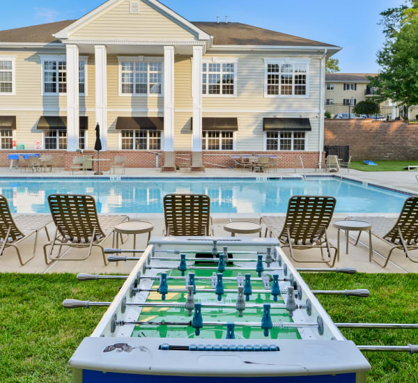 Sparkling swimming pool at Stonegate at Devon Apartments in Devon, Pennsylvania