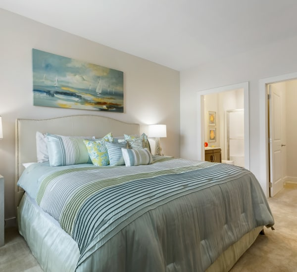 Bright, spacious bedroom at The Sound at Gateway Commons in East Lyme, Connecticut