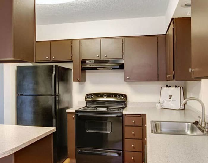 Upgraded kitchen at Willow Grove Apartment Homes in Beaverton, OR