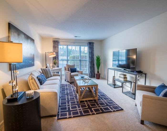 Living room at Laurel Springs in High Point, North Carolina
