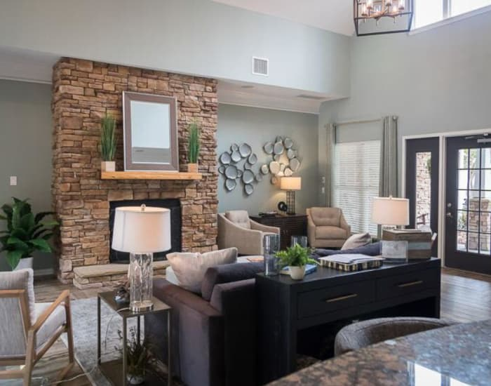 Living room at Polo Village in Columbia, South Carolina