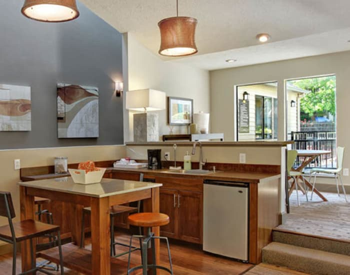 Kitchen amenities at Willow Grove Apartment Homes in Beaverton, OR