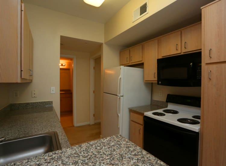 Kitchen at Cornerstone Ranch Apartments in Katy, Texas