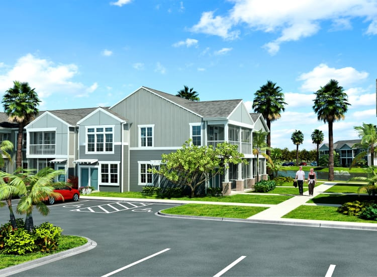Rendering of the parking lot at Springs at Hammock Cove in Naples, FL