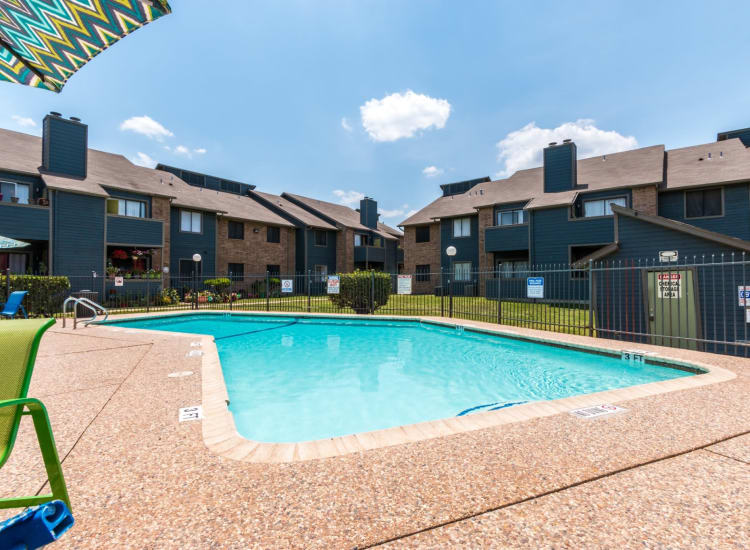 The outdoor pool at Northchase Apartments in Austin, Texas