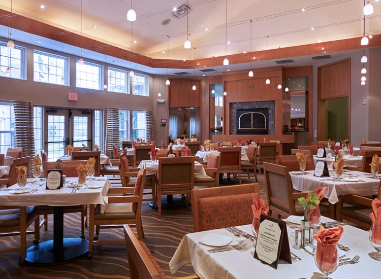 Bright and spacious dining room at All Seasons Ann Arbor in Ann Arbor, Michigan