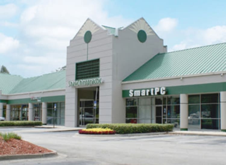 View of the Smart PC facade at Fort Family Investments's commercial property, Perimeter Park, in Jacksonville, Florida