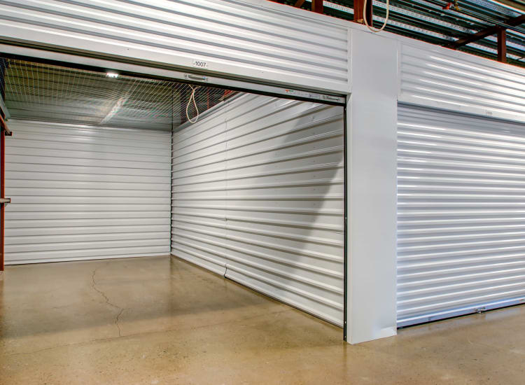Indoor storage units at Metro Self Storage in Wood-Ridge, New Jersey