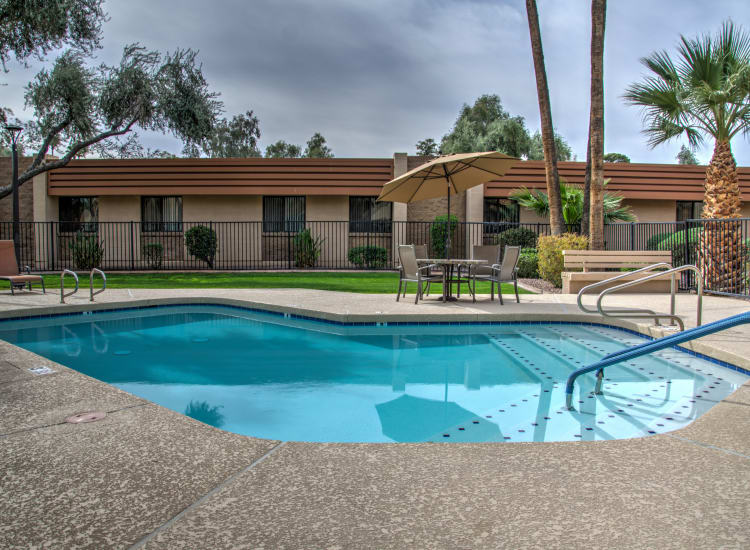 Swimming pool at Bella Vista Senior Living in Mesa, Arizona