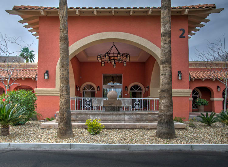 Southwest architecture at Casa Del Rio Senior Living in Peoria, Arizona