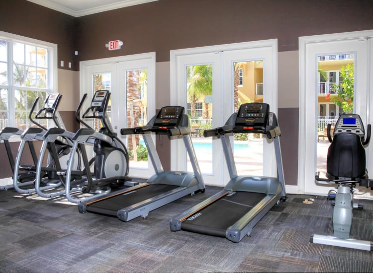 Onsite fitness center at Riverwalk Pointe in Jupiter, Florida