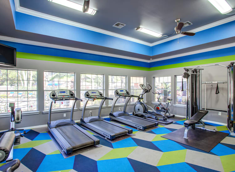 Fitness center at Regatta Bay in Seabrook, Texas