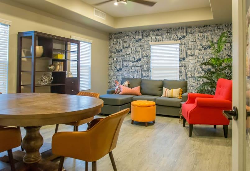 Lobby interior at Hacienda Del Rey