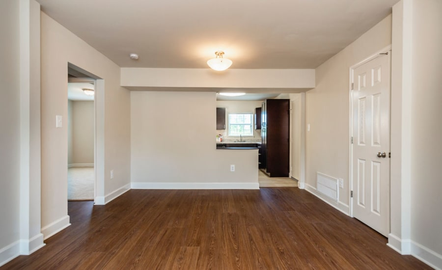 Hardwood floors in recently remodeled home at Westgate Apartments & Townhomes in Manassas, Virginia