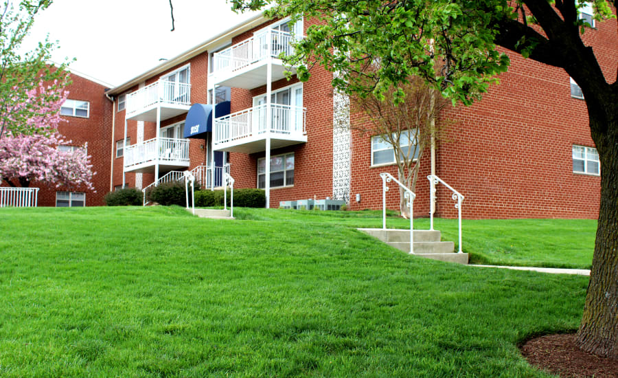Beautiful walking paths  at Westgate Apartments & Townhomes in Manassas, Virginia