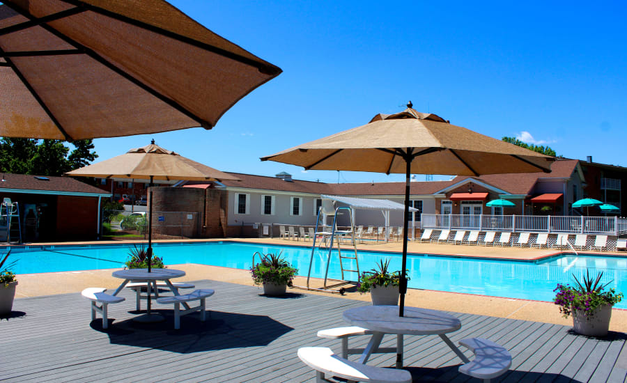 Swimming pool at Westgate Apartments & Townhomes in Manassas, Virginia